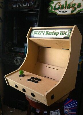 Easy to Assemble 1p Bartop / Tabletop Arcade Cabinet Kit w/ Marquee Holder HAPP