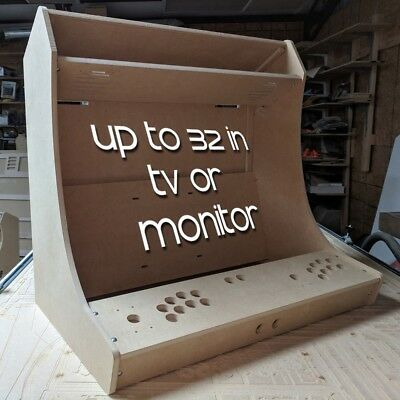 "DIY ""TINY"" Bartop / Tabletop Arcade Cabinet Kit for 32in TV or 32"" Monitor Sanwa"