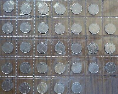 1966-2000 5c Circulated Set.Missing 1972,1985,1986 5 cent.32 Coins(LotE219p)