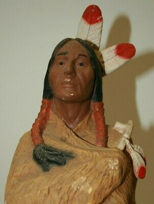 Large Figurine/ Sculpture Native American Indian Chief, Universal Statuary 1981