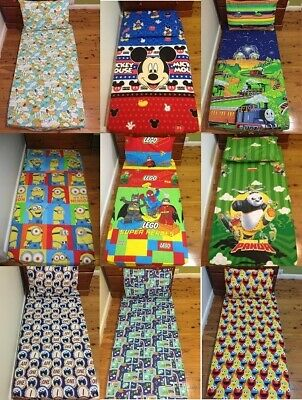 New Sponge Bob Minion, Lego, Elmo, Kungfu Panda Cot fitted sheet + pillowcase