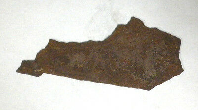6 Inch KENTUCKY KY State Shape Rough Rusty Metal Vintage Stencil Ornament Magnet