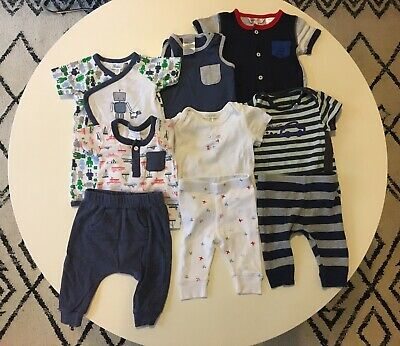 Size 000 (0-3months) Baby Boy Mixed Clothes (9 Items)