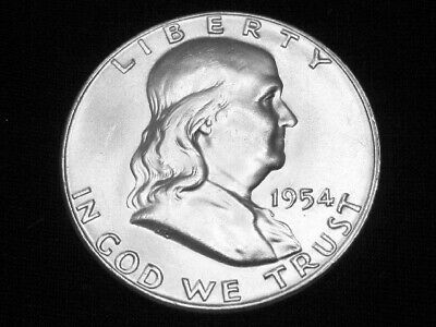 1954 Franklin Half Dollar --- Gem Uncirculated w/ FBL