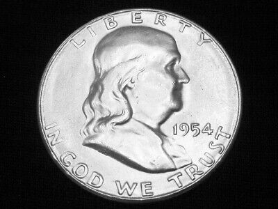 1954-S Franklin Half Dollar --- Very Choice (nearly Gem) Uncirculated w/ FBL