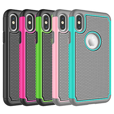For iPhone X XR XS Max 6S 7 8 Plus Shockproof Case Hybrid Rugged Phone Cover