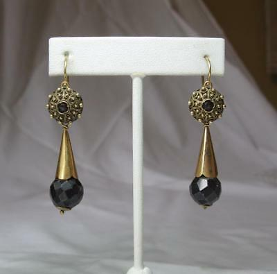 Garnet Earrings Day/Night Gold Etruscan Revival c1860 Victorian Museum Quality