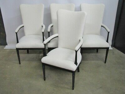 "Set of 4 High-End ""To-The-Trade"" Solid Mahogany/Espresso Armchairs"