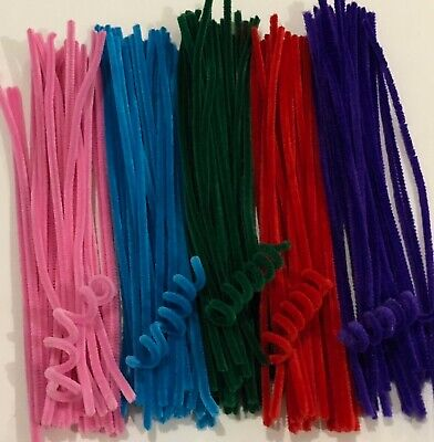 Pipe Cleaners Chenille Stems 30pc Choose Your Colour 6mm x 30cm Aussie Seller