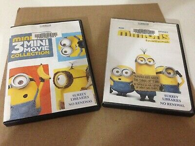 Minions First Film & 3 Mini-Movie Collection 2x DVD Lot Despicable Me FREE SHIP!