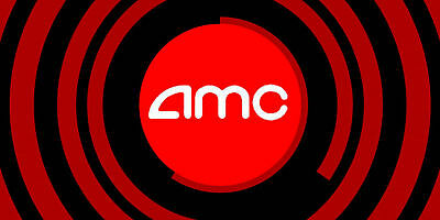 Qty: 2 Gift Certificates for AMC Theaters Black MOVIE TICKET