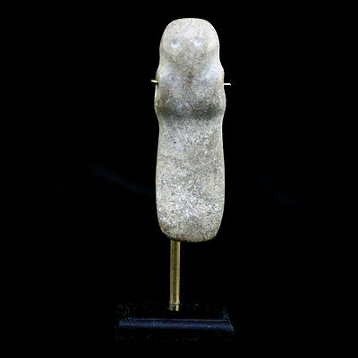 Costa-Rican carved jade axe god x4873