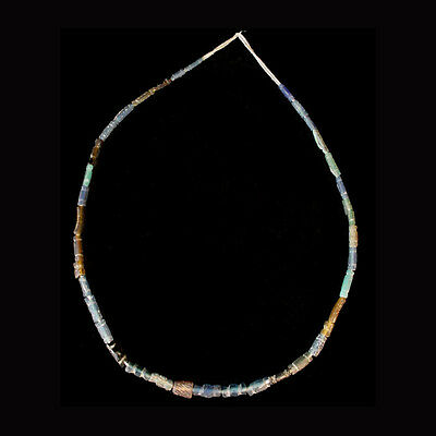 Roman coloured glass bead necklace x7426