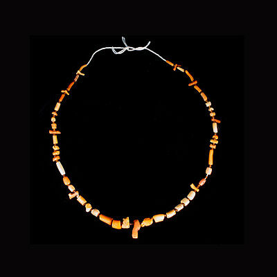 Roman red coral and glass bead necklace. x6486