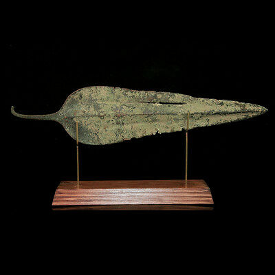 Western Asiatic bronze spear head. 04883