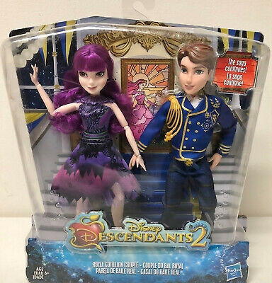 New In Box Disney Descendants 2 Royal Cotillion Couple Set Of 2 Dolls