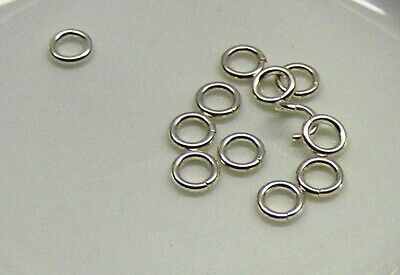 Jump ring, sterling silver, 5.3mm round, 18 gauge.x 10