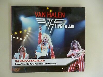 CD Van Halen - Live To Air ( Ultra Rare - Exclusive Brazil - Cardsleeve )