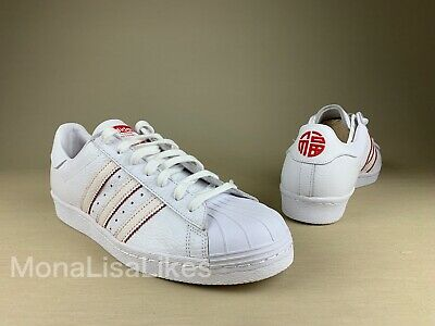 online store 8caa2 bd5ae New ADIDAS Original SUPERSTAR 80s CNY Chinese New Year White DB2569 Sneakers