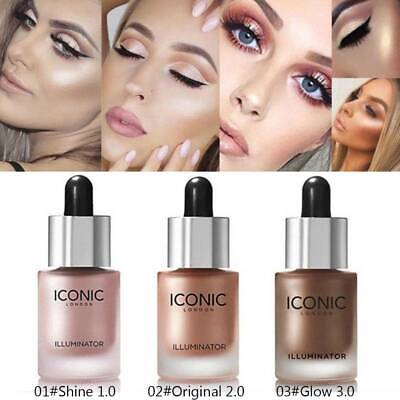 3D Highlighter Illuminator Liquid Makeup Concealer Cream Shimmer Face Glow