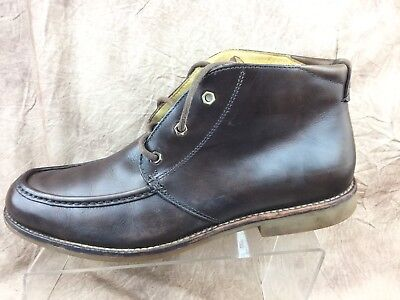 UGG 1001901 Via Lungarno Brown Leather Moc Toe Ankle Chukka Boots Men's Sz 9