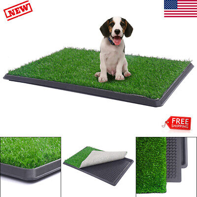 Pet Potty Trainer Grass Mat Dog Puppy Training Pee Pad Outdoor Toilet Tray Turf