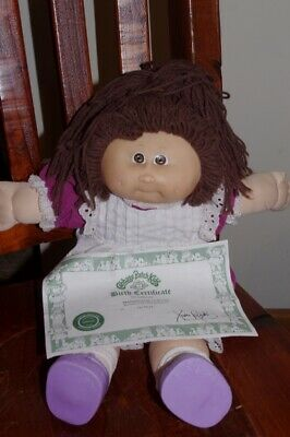 Cabbage patch doll 1989 Ok birth certificate vintage