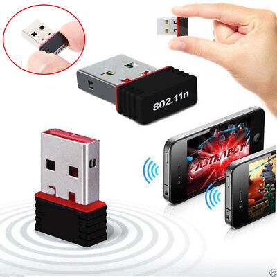 Mini USB WiFi WLAN 150Mbps Wireless Network Adapter 802.11n/g/b Dongle i