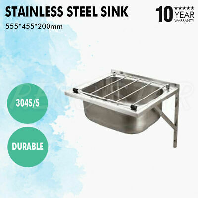 555*455*200mm Grate Sink Wall Mounted Stainless Steel Durable Commercial