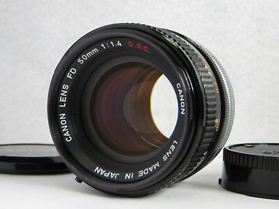 **NEAR MINT** Canon FD 50mm F/1.4 S.S.C MF Lens From Japan #394