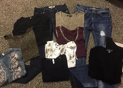 Huge Lot Of (11) Size 7/9 S/M Mixed Lot Top Brands Jeans Tops Casual Wear