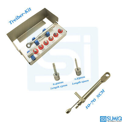 Dental Implant Driver Kit and Torque Wrench Ratchet 10-70 Ncm Driver Tool Sumiq