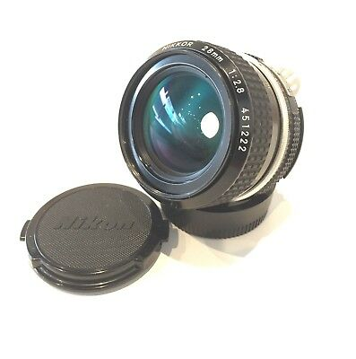 【NEAR MINT+3】 Nikon Ai NIKKOR 28mm F/2.8 Wide Angle MF Lens Clear From Japan #25