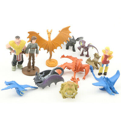 12pcs/set How To Train Your Dragon Figure Hiccup Toothless Night Fury Nadder Toy