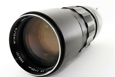 **AS-IS**Minolta MC TELE ROKKOR HF 300mm f4.5 MD Telephoto Lens From Japan#063