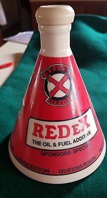 REDEX the oil and fuel additive . Burke to Burnie 1990 bottle