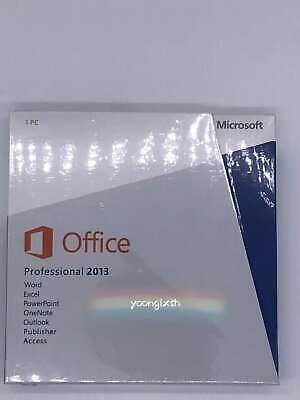 Microsoft Office 2013 Professional 32+64bit For 1PC Full Version with DVD
