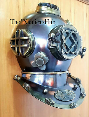 "Window Antique 18"" Diving Helmet Marine Door KnockUS Navy Mark V Helmet Replica"