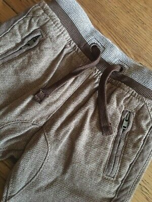 Next Baby Boys Brown Tan Cargo Trousers Joggers 6-9 Months