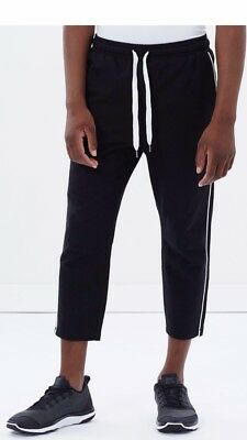 The Upside Mens Piping Joggers Rrp$149 Black Cotton Small Track Pants