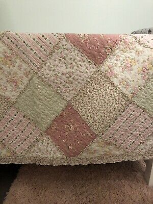 Beautiful Patchwork Cot Quilts And Matching Cushion Covers.