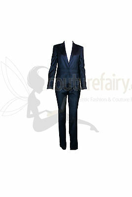Gucci By Tom Ford Tailored Pants Suit With Leather Details