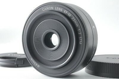 【Top Mint】 CANON EF-M 22mm F/2 STM Black For EOS M M2 M3 M6 M10 From JAPAN #312