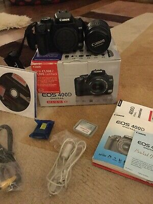 Canon EOS 400D 10.1 MP Digital SLR Camera - Black (Kit with EF-S 18-55mm Lens)