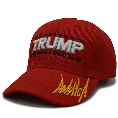 US STOCK Donald Trump 2020 Keep Make America Great Again Cap Embroidered Red Hat