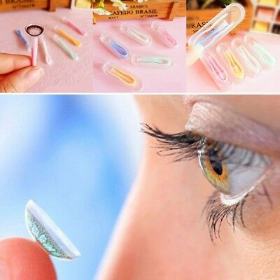 2pcs Eyes Care Contacts Silicone Tweezers Insert Remover Contact Lenses Tool Kit