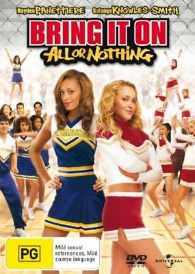 Bring It On - All Or Nothing (DVD, 2006) very good condition    t10