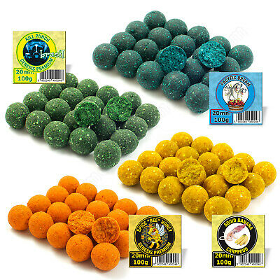 Carp Fishing Boilies 20mm Banana Spices Honey Halibut Tuna Hook Hair Rigs Bait