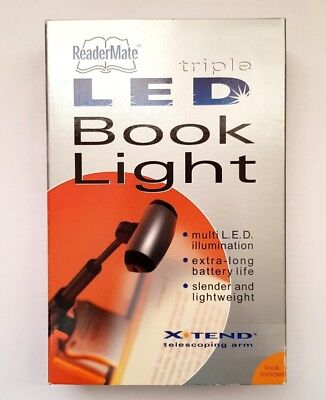 ReaderMate Triple LED Xtend Telescoping Book Light