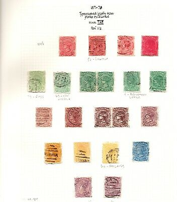 Tasmania QV Collection 1871-91 5 pages Mounted mint  & Used SG Cat £800.00+